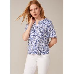 Phase Eight Samaya Paisley Print Top, White, Tops found on Bargain Bro UK from Phase Eight
