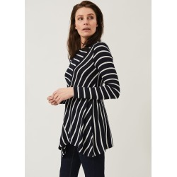 Phase Eight Clea Cutabout Stripe Longline Top, Blue, Tops found on Bargain Bro UK from Phase Eight