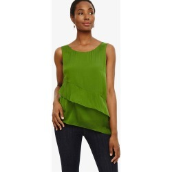 Phase Eight Kit Silk Tiered Blouse, Green, Blouse