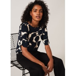 Phase Eight Naava Abstract Floral Top, Blue, Tops found on MODAPINS from Phase Eight for USD $48.77