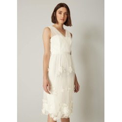 Phase Eight Rae Embroidered Bridesmaid Dress, Cream, Fit & Flare found on MODAPINS from Phase Eight for USD $163.07