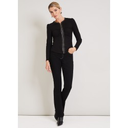 Damsel in a Dress Suzette Faux Leather Zip Front Top, Black found on Bargain Bro UK from Phase Eight