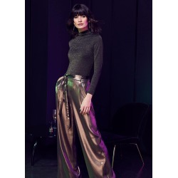Phase Eight Women's Keira Gold Wide Leg Trousers, Metallic, Wide found on Bargain Bro UK from Phase Eight