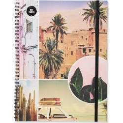 Typo - A4 Spinout Notebook Dot Page - Pastel travel