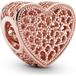 Pandora Filigree & Beaded Heart Charm - 14k Rose Gold-plated Unique Metal Blend found on MODAPINS from Pandora Jewellery UK for USD $43.84