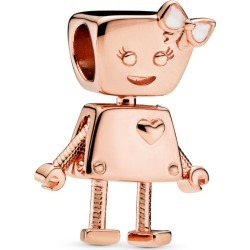 PANDORA Bella Bot Charm - Enamel / Pink / Rose found on MODAPINS from Pandora Jewellery UK for USD $78.36