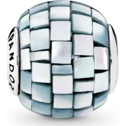 PANDORA Essence Balance Charm - Silicone / Sterling Silver / Mother Of Pearl / Blue / Grey found on MODAPINS from Pandora Jewellery UK for USD $26.12