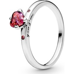 Pandora Sparkling Red Heart Ring - Sterling Silver / Multi found on MODAPINS from Pandora Jewellery UK for USD $55.58