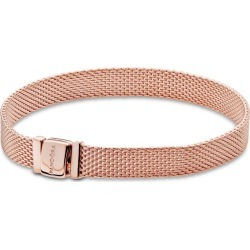 Pandora Reflexions Mesh Bracelet - 14k Rose Gold-plated Unique Metal Blend found on MODAPINS from Pandora Jewellery UK for USD $156.56