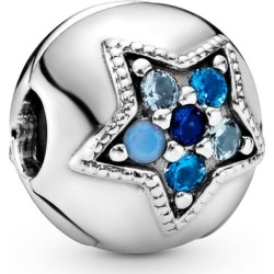 Pandora Bright Blue Star Clip Charm - Sterling Silver / Crystals found on MODAPINS from Pandora Jewellery UK for USD $56.36
