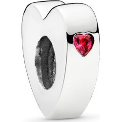 PANDORA Two Hearts Spacer - Sterling Silver / Red found on MODAPINS from Pandora Jewellery UK for USD $26.12