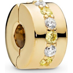 PANDORA Shining Path Clip - 18ct Gold Plated / Yellow found on MODAPINS from Pandora Jewellery UK for USD $71.83
