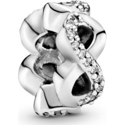 Pandora Sparkling Infinity Spacer Charm - Sterling Silver / Clear found on MODAPINS from Pandora Jewellery UK for USD $31.31