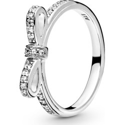 Pandora Classic Bow Ring - Sterling Silver / Clear found on MODAPINS from Pandora Jewellery UK for USD $62.62