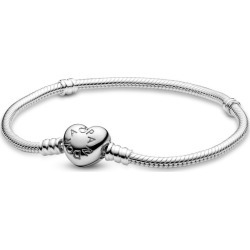 Pandora Moments Heart Clasp Snake Chain Bracelet - Sterling Silver found on MODAPINS from Pandora Jewellery UK for USD $76.43