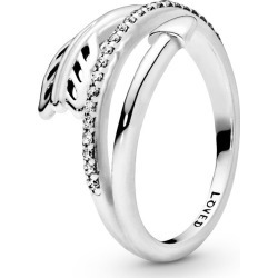 Pandora Wrap-around Arrow Ring - Sterling Silver / Clear found on MODAPINS from Pandora Jewellery UK for USD $75.15