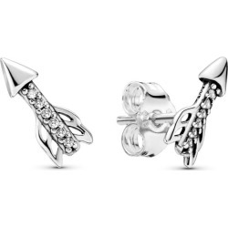 PANDORA Sparkling Arrows Stud Earrings - Sterling Silver found on MODAPINS from Pandora Jewellery UK for USD $52.24