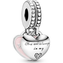 Pandora Mother & Daughter Hearts Dangle Charm - Enamel / Sterling Silver / Pink found on MODAPINS from Pandora Jewellery UK for USD $68.89