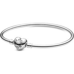 Pandora Moments Heart Clasp Bangle - Sterling Silver found on MODAPINS from Pandora Jewellery UK for USD $76.43