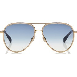 TRINY Dark Blue Aviator Sunglasses with Gold Metal Frame found on Bargain Bro Philippines from Jimmy Choo for $420.00