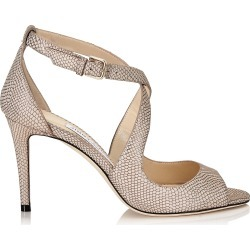 EMILY 85 Nude Printed Metallic Leather Sandals