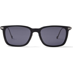 RYAN Grey Acetate Square Sunglasses with Matte Titanium Temples