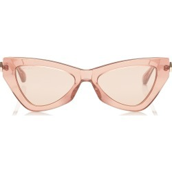 DONNA Pink Flash and Silver Cat Eye Sunglasses with Pink Glitter found on Bargain Bro Philippines from Jimmy Choo for $300.00