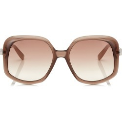 AMADA/S 57 Grey Shaded Gold Mirror Cat Eye Sunglasses with Nude Frame found on Bargain Bro Philippines from Jimmy Choo for $235.00