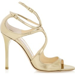LANG Gold Mirror Leather Sandals