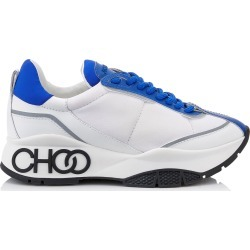 RAINE Electric Blue Neoprene Calf and Rubberised Lace Up Trainers with Grey Reflective Strip found on MODAPINS from Jimmy Choo for USD $695.00