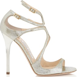 LANCE Champagne Glitter Leather Sandals