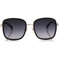 ELVA Black and Copper Gold Oversized Sunglasses with Shimmer Suede Detailing found on Bargain Bro Philippines from Jimmy Choo for $475.00