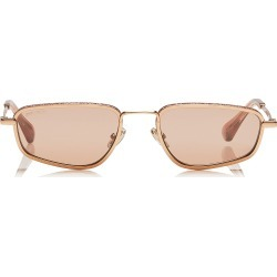 GAL Pink Flash Silver Fashion Sunglasses with Gold Pink Frame found on Bargain Bro Philippines from Jimmy Choo for $420.00