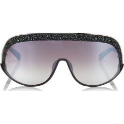 SIRYN Brown and Silver Mask Sunglasses with Grey Frame found on Bargain Bro Philippines from Jimmy Choo for $510.00