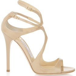 LANCE Nude Patent Leather Sandals