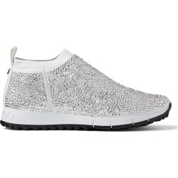 NORWAY White Knit Trainers with Hot Fix Crystals found on MODAPINS from Jimmy Choo for USD $1995.00