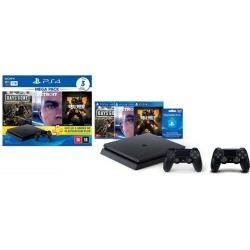 Console Playstation 4 Slim 1TB Hits Bundle v5.1 + Controle Playstation Dualshock 4 Preto - PS4