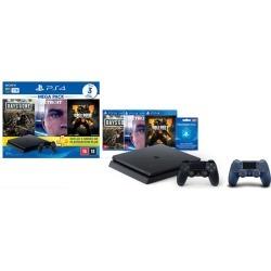 Console Playstation 4 Slim 1TB Hits Bundle v5.1 + Controle Playstation Dualshock 4 Azul - PS4