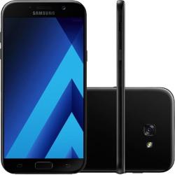 Smartphone Samsung Galaxy A720 A7 2017 Preto, Dual Chip Android 6.0 Tela Super AMOLED, 5.7