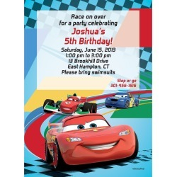 Cars 2 Personalized Invitation (Each)