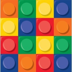 Block Party Lunch Napkin (16 Count)