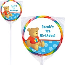 1St Birthday Bear Boy Personalized Lollipop