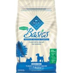 Blue Buffalo Basics Dry Grain Free Dog Food Turkey & Potato Recipe - 11 lb bag