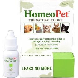 Urinary Tract & Kidneys Medication, HomeoPet Leaks No More 15 ml
