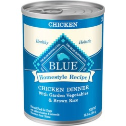 Blue Buffalo Homestyle Recipe Canned Dog Food Fish & Sweet Potato Dinner 12-12.5 oz cans