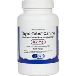 Medications Medication, Levothyroxine Sodium Tablets (Thyro-Tabs) 0.2 mg (sold per tablet) found on Bargain Bro from 1-800-petmeds for $0.06