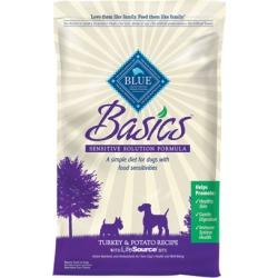 Blue Buffalo Basics Dry Dog Food Turkey & Potato 24 lb bag