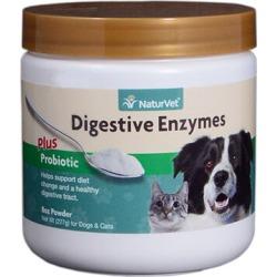 NaturVet Digestive Enzymes Plus Probiotic Powder 8 oz