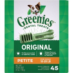 Greenies Dental Treats 27 oz Petite 45 Treats