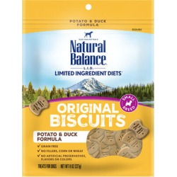 Natural Balance L.I.D. Limited Ingredient Diets Treats Potato & Duck Small Breed 8 oz